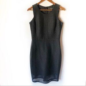 Marc New York Black Net Sheath Dress | 8